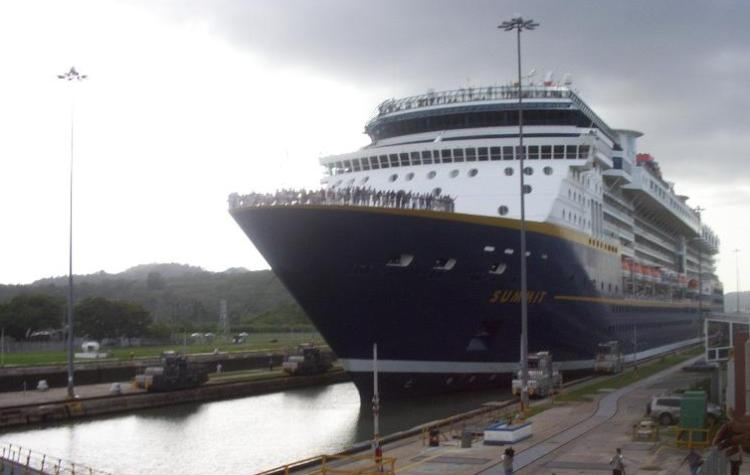 Cruise Ship in the Mira Flores Locks
